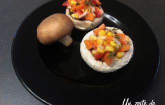 champignon farcis aux petits légumes
