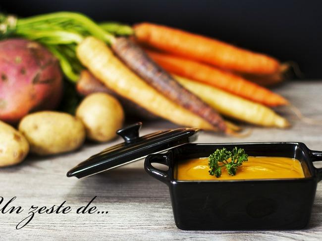 purée de patate douce, carotte et pomme de terre