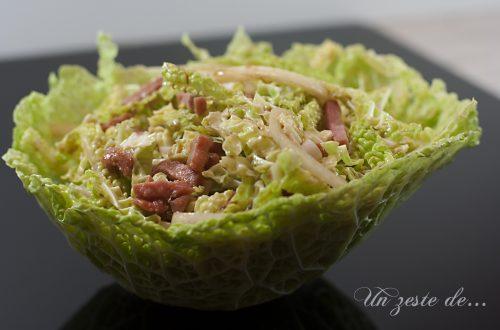 salade de chou au bacon