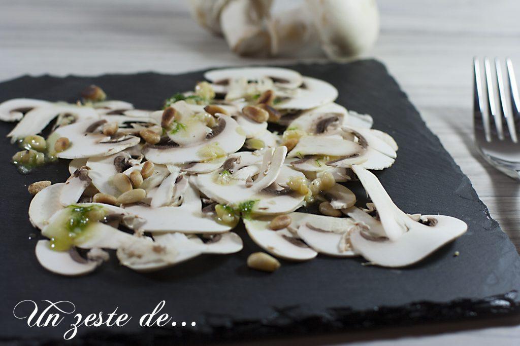 Carpaccio de champignons