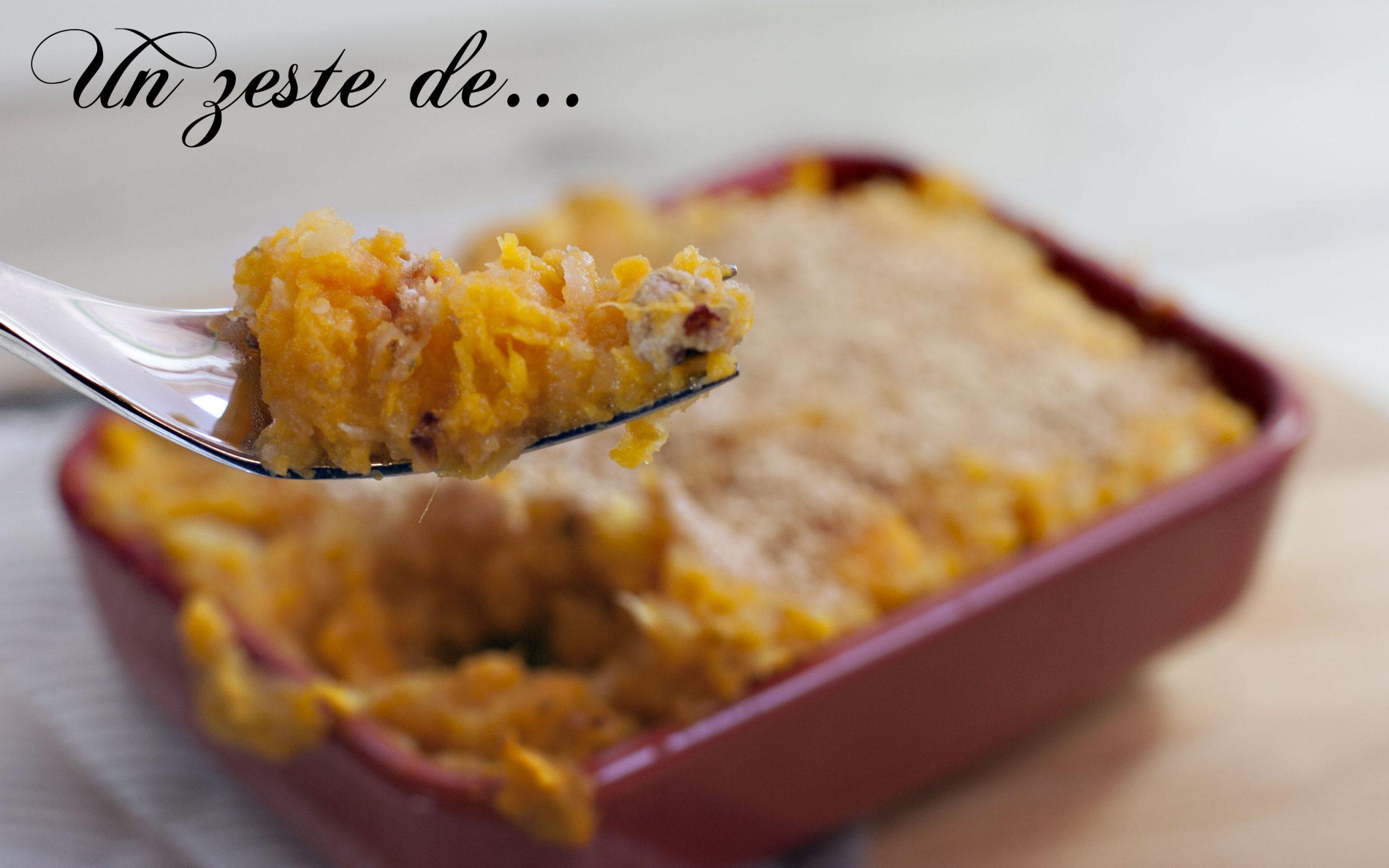 Parmentier de veau, céleri et patate douce