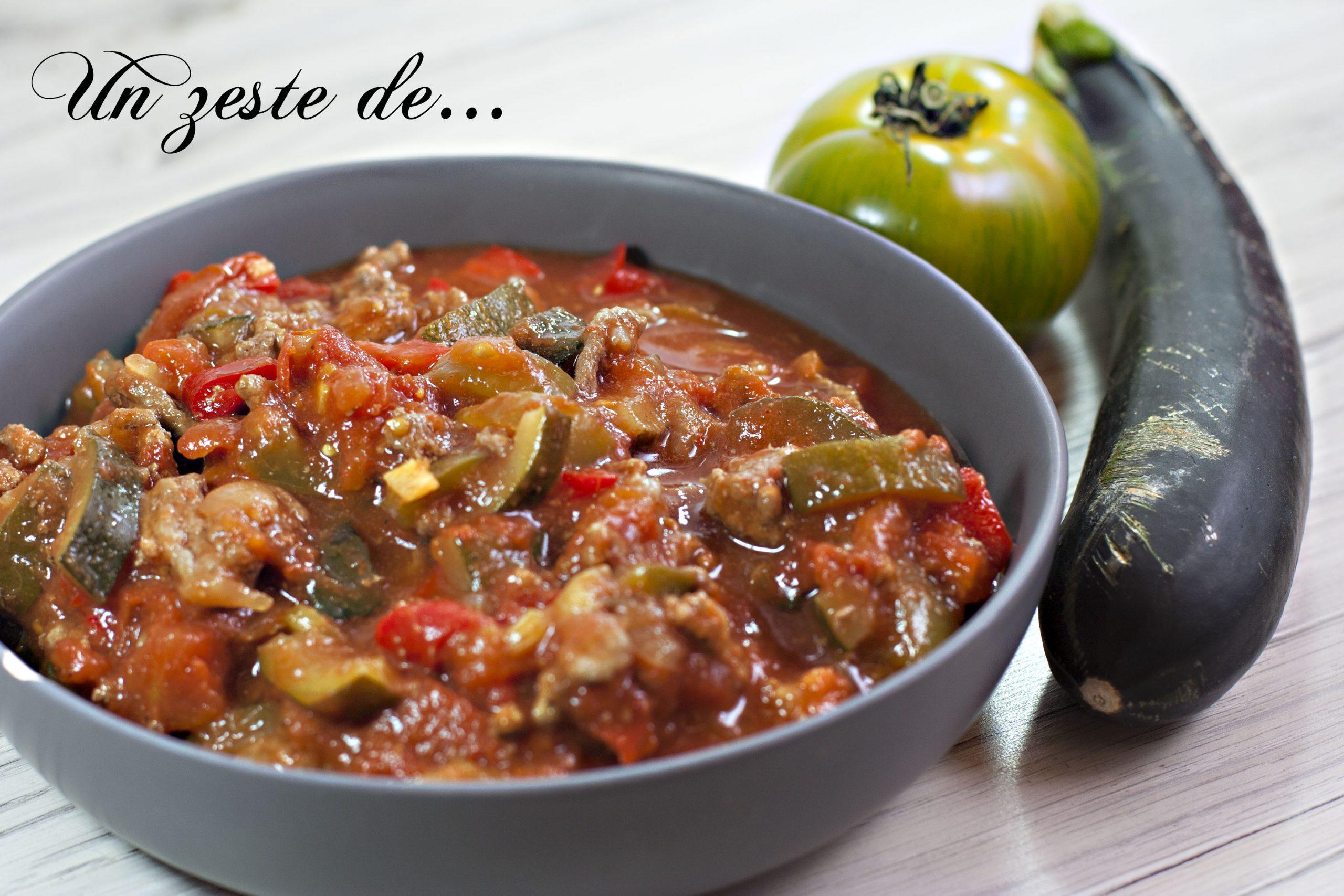 Sauce bolognaise aux légumes d'été