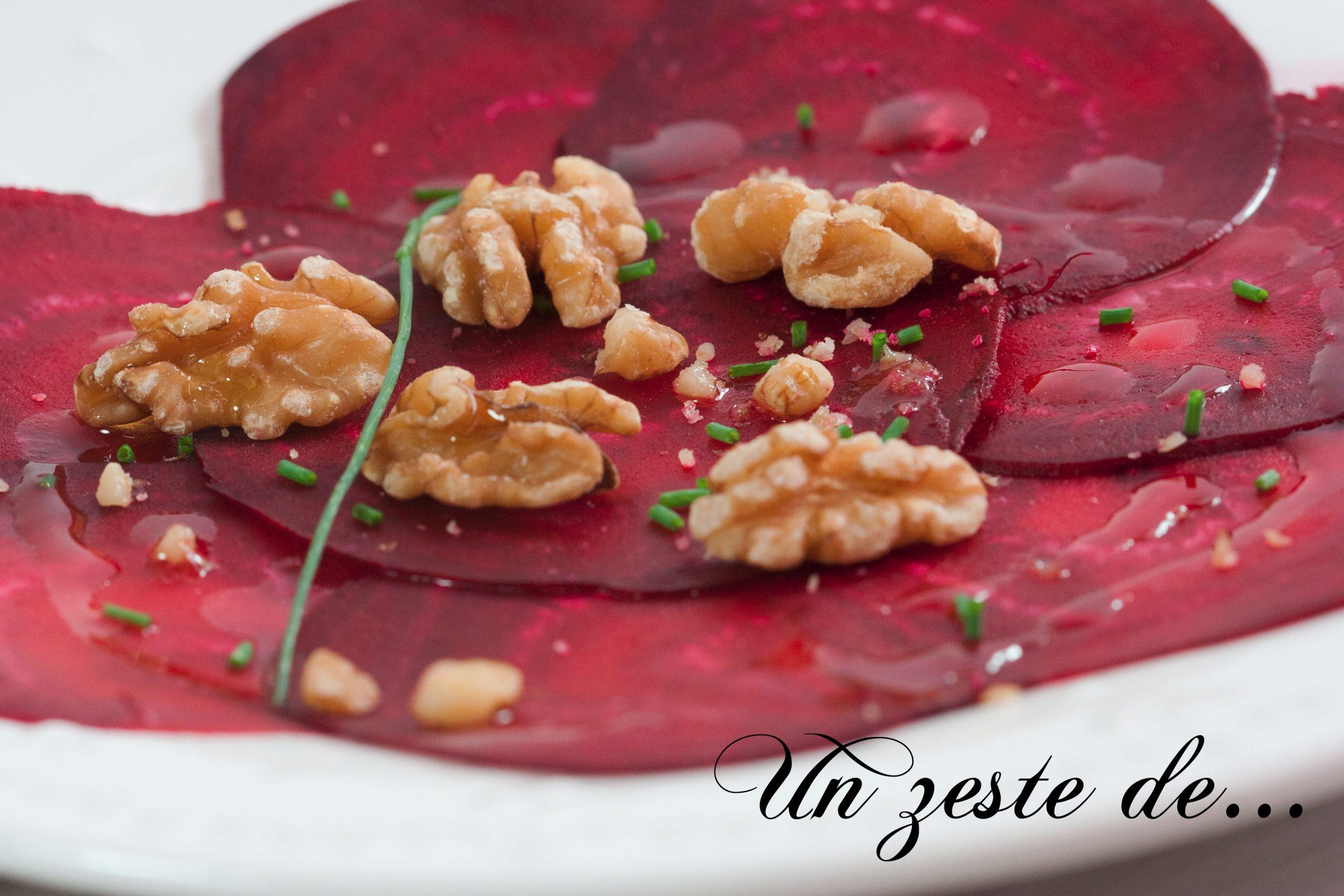 Tartare de betteraves aux noix