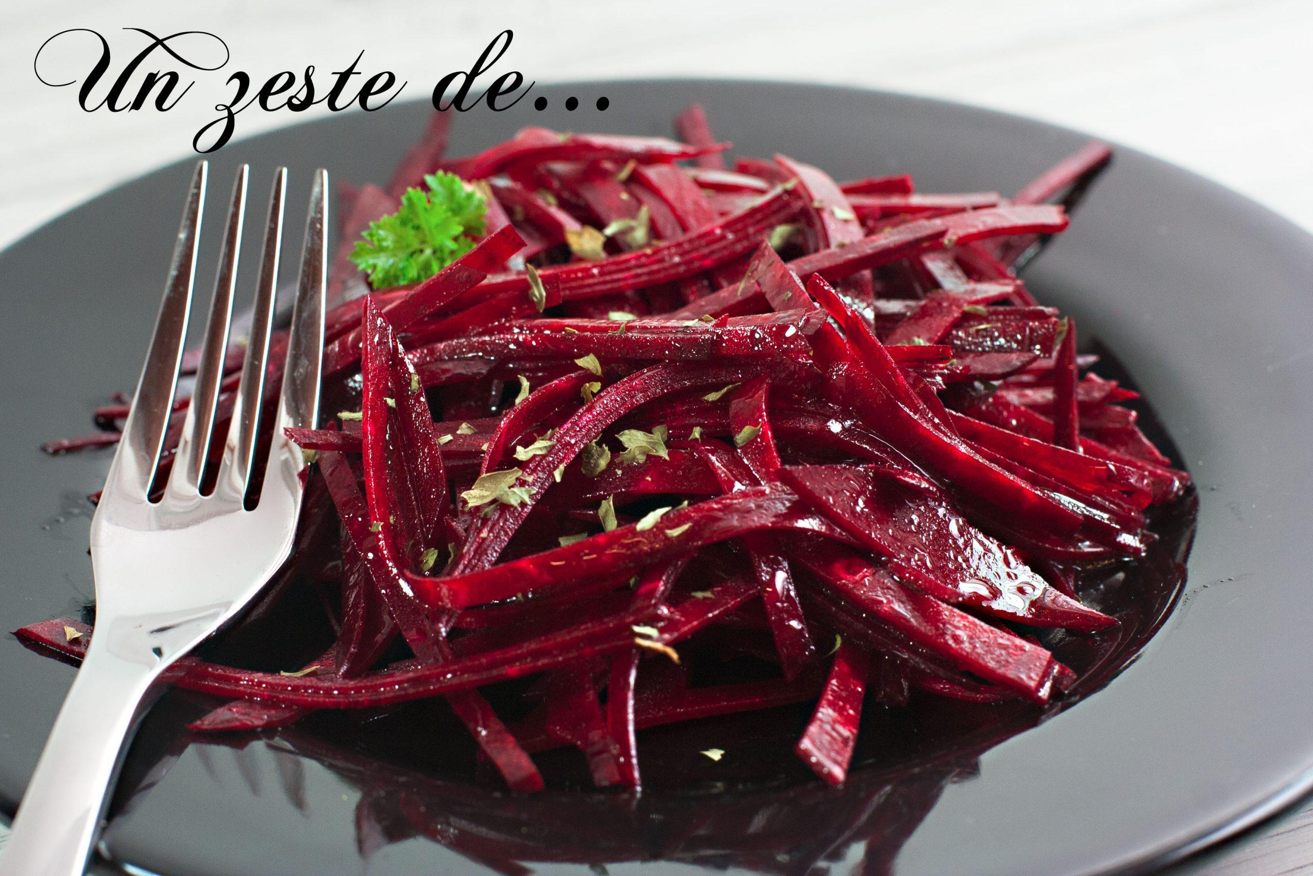 Salade de betterave rouge crue
