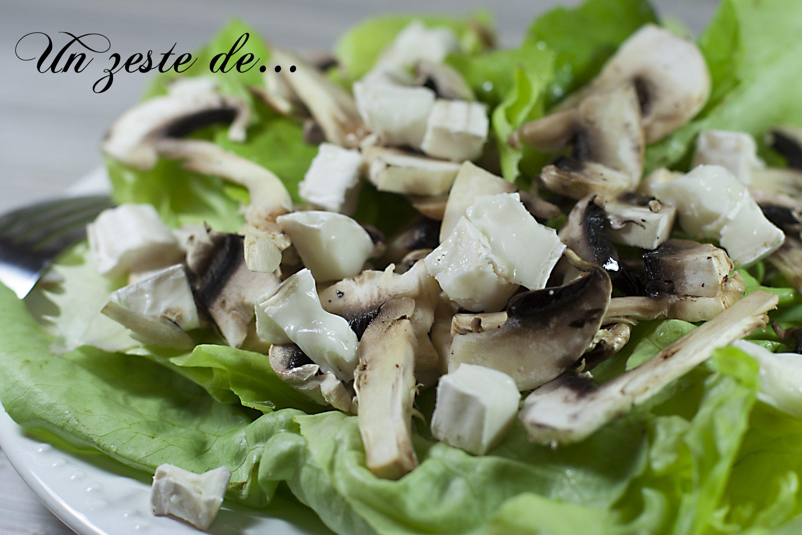 Salade de champignons au chèvre frais
