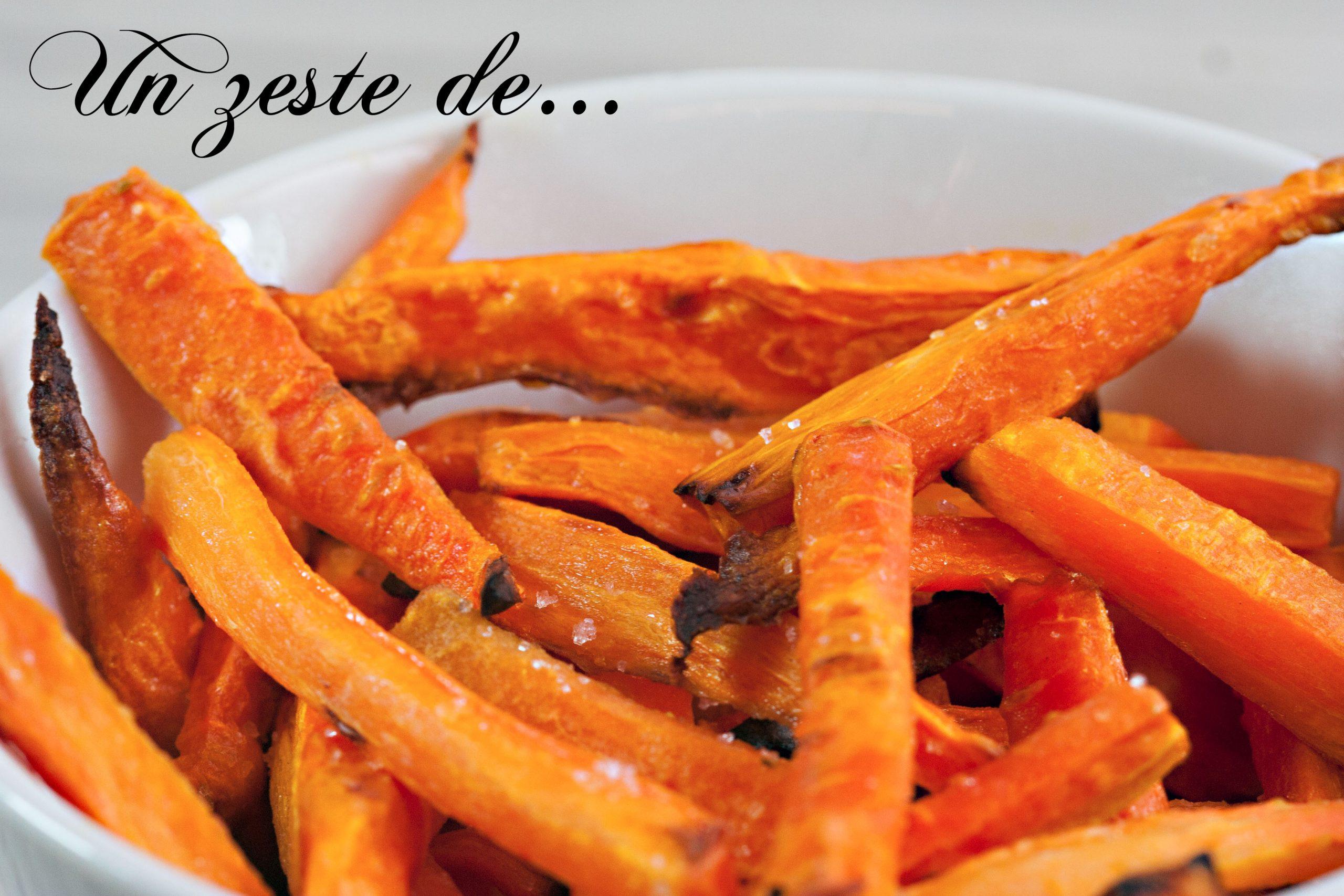 Frites de carottes au four