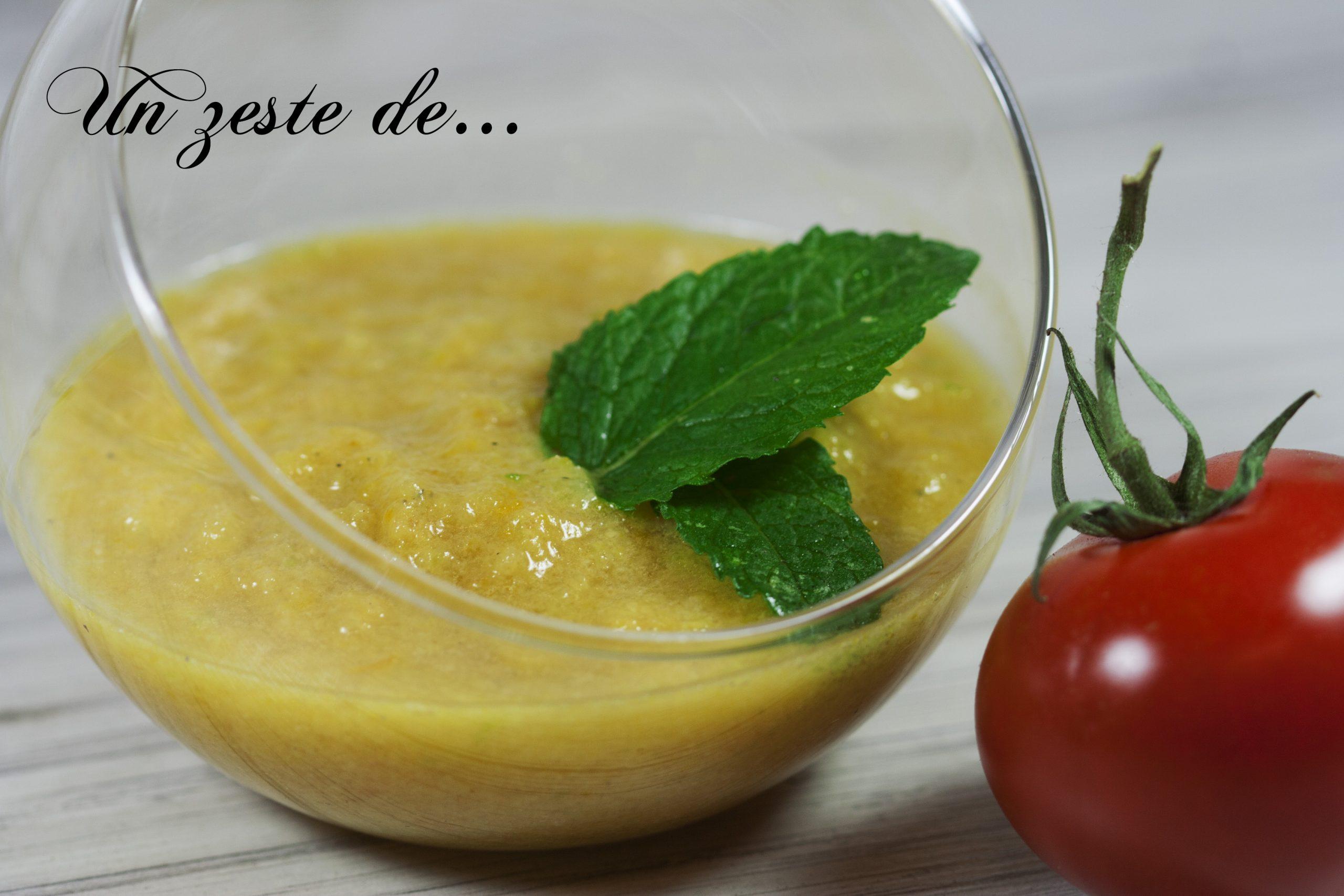 Gaspacho tomate concombre