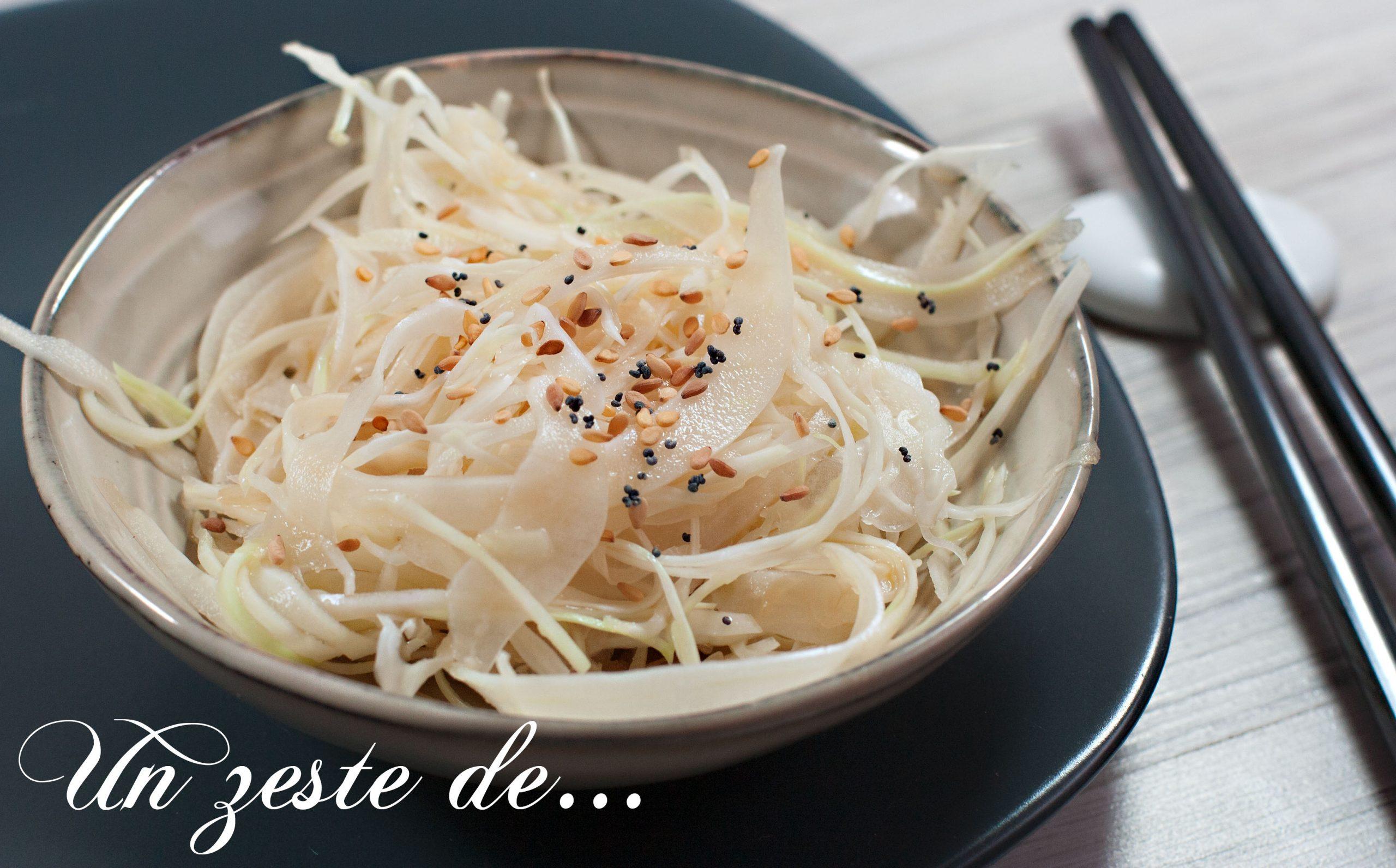 Salade chinoise de chou blanc
