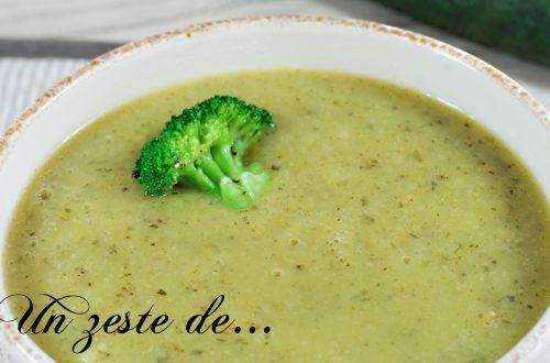 soupe brocoli courgette