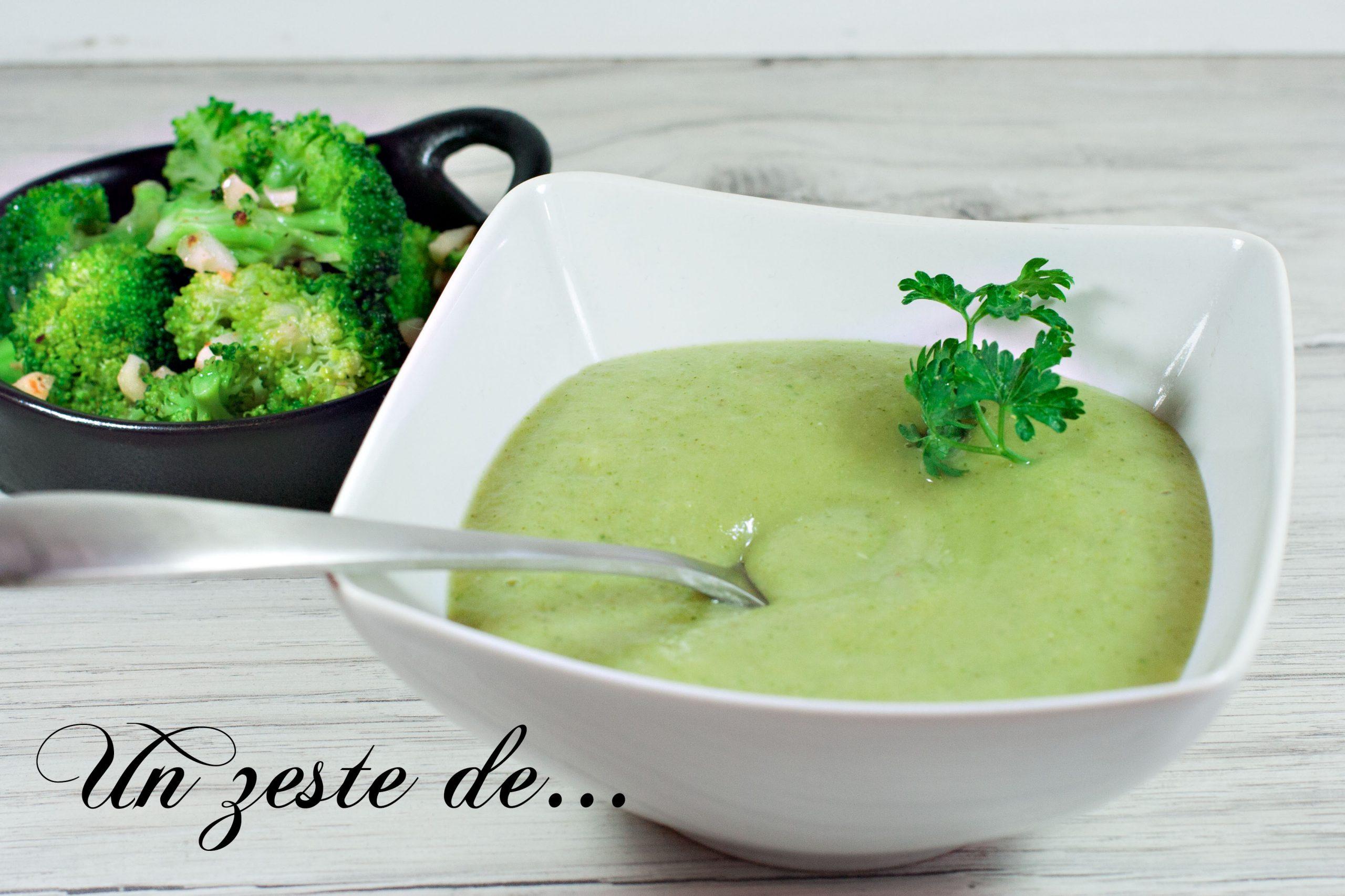 Soupe de brocoli au fromage frais épicé