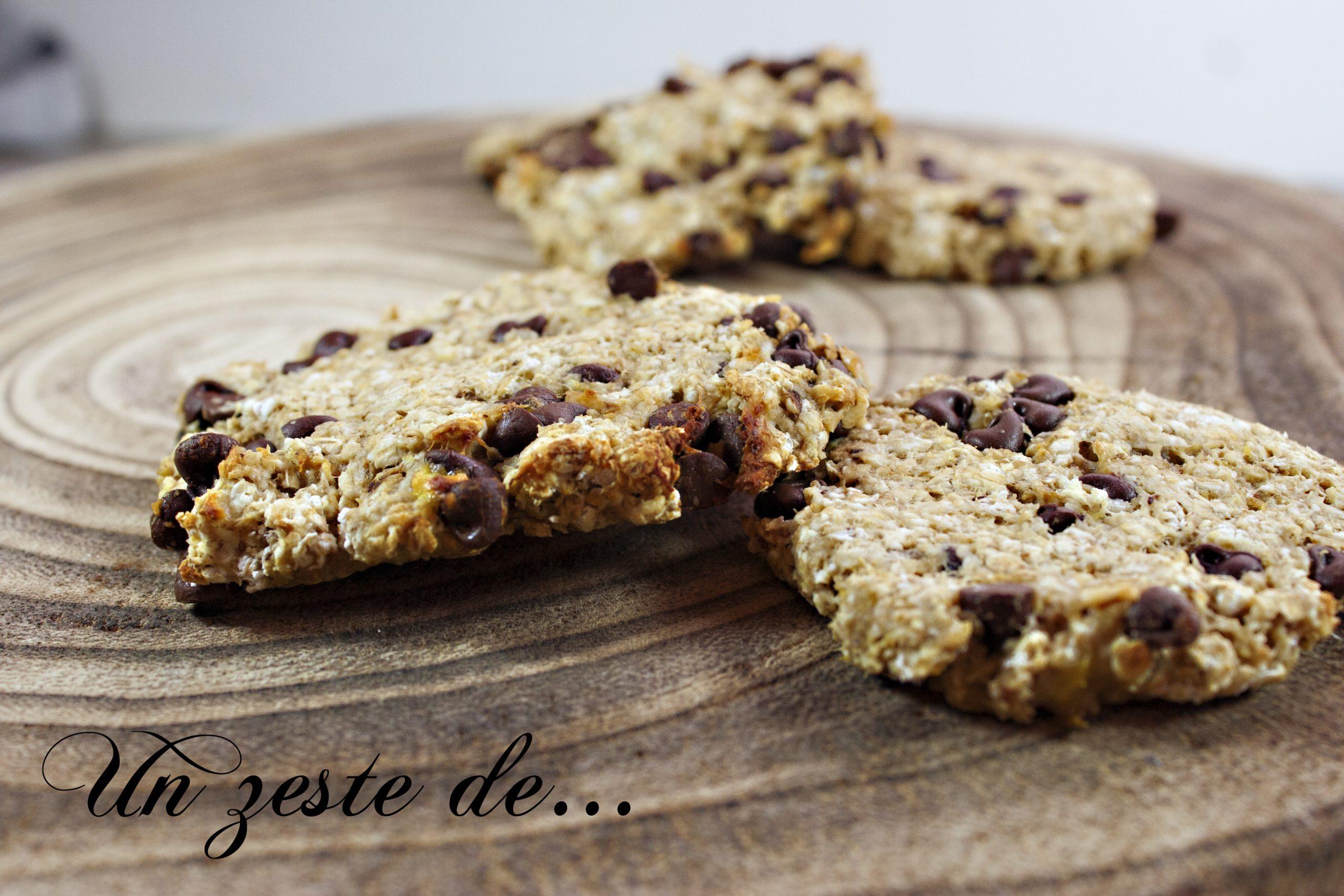 Biscuit aux flocons d'avoine et chocolat