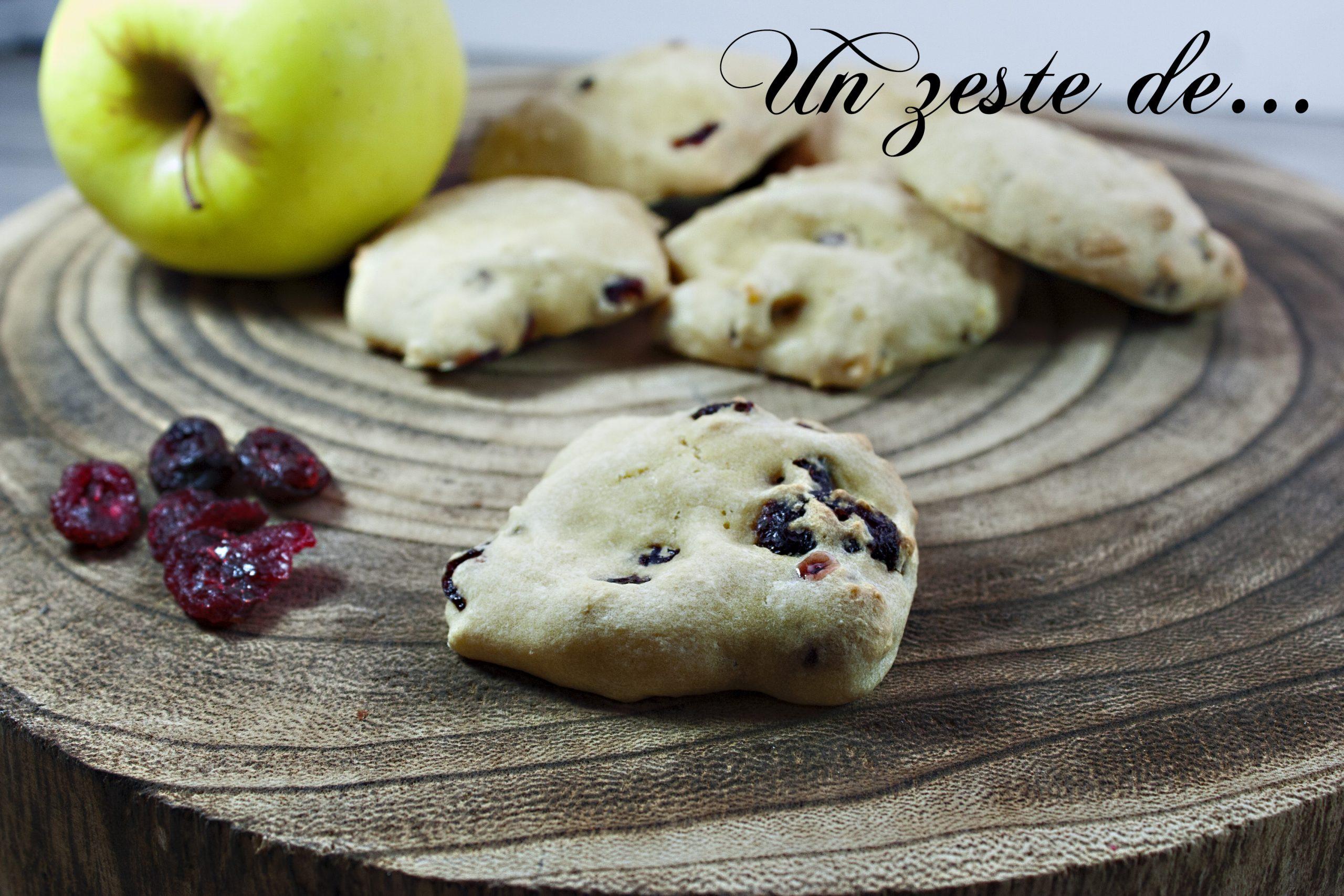 Biscuit pomme cranberries
