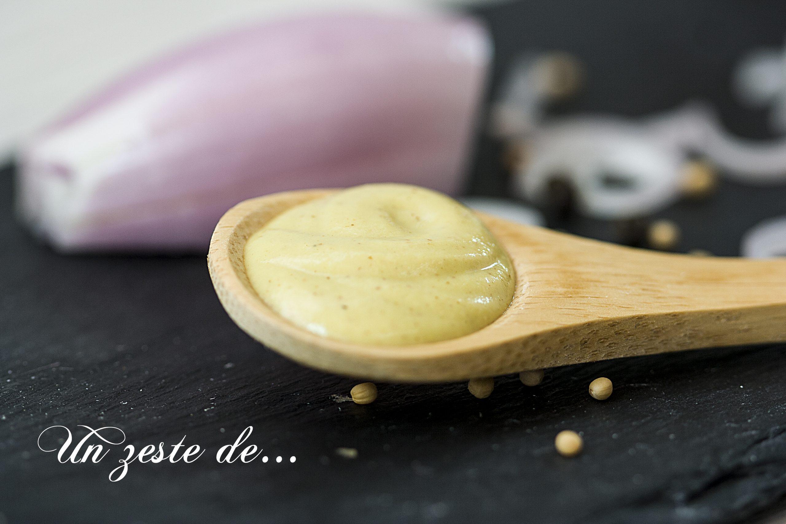 Vinaigrette moutardée fromage blanc échalote
