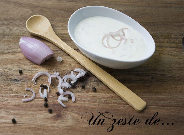 vinaigrette fromage blanc échalote