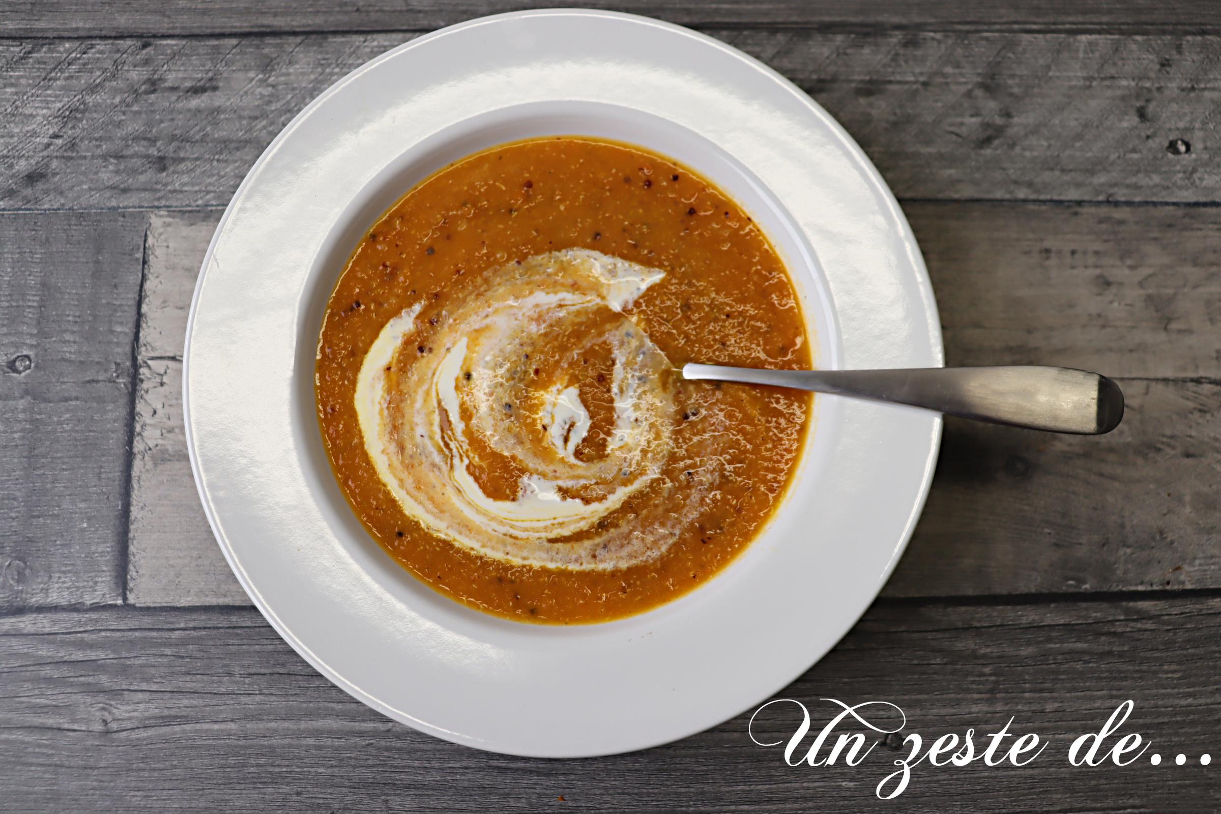 Crème de carottes au cumin et quinoa
