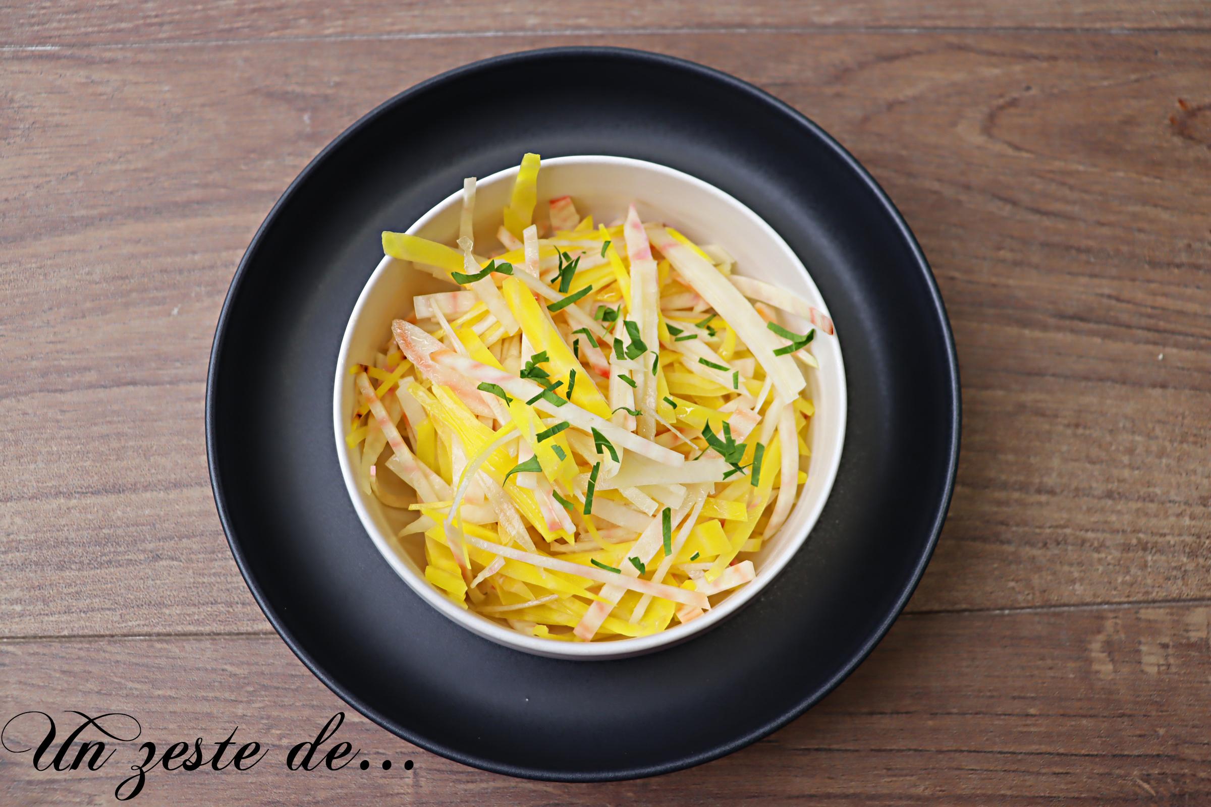Salade de betterave giogga à l'asiatique