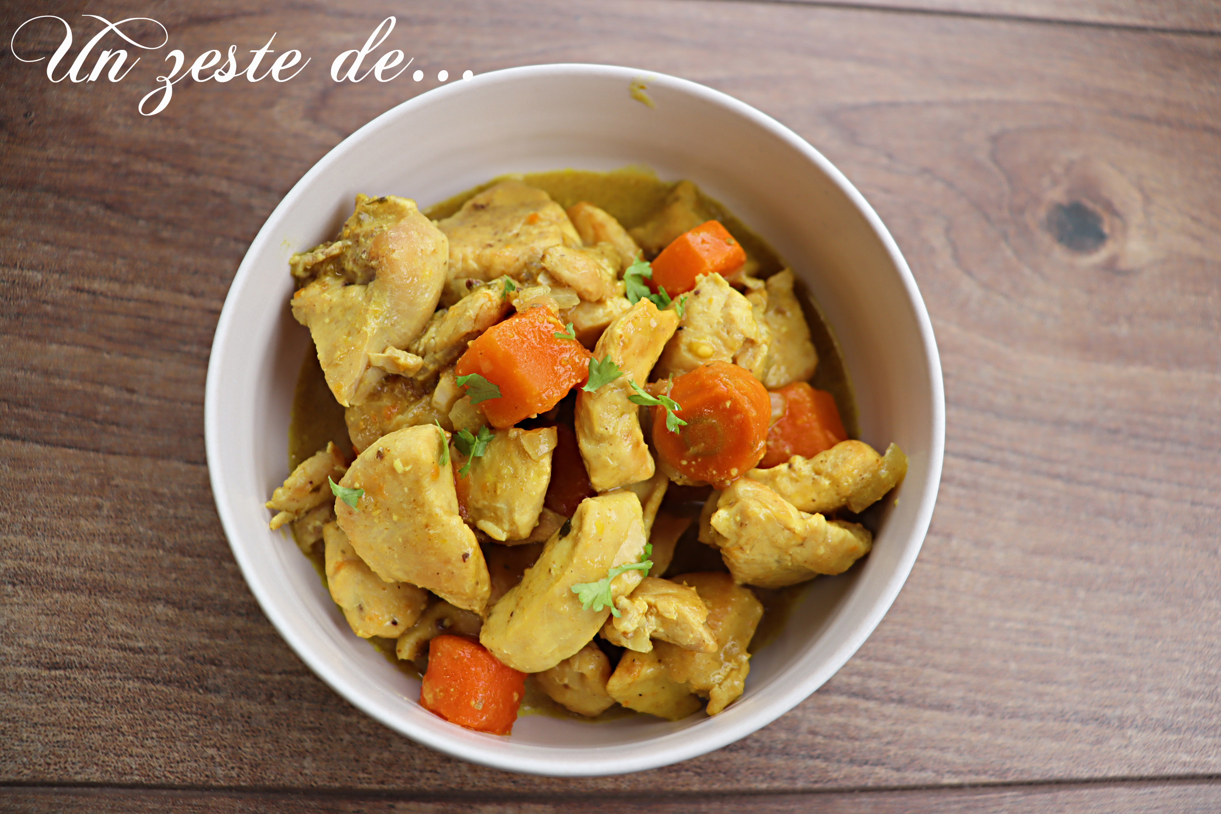 Poulet coco-curry