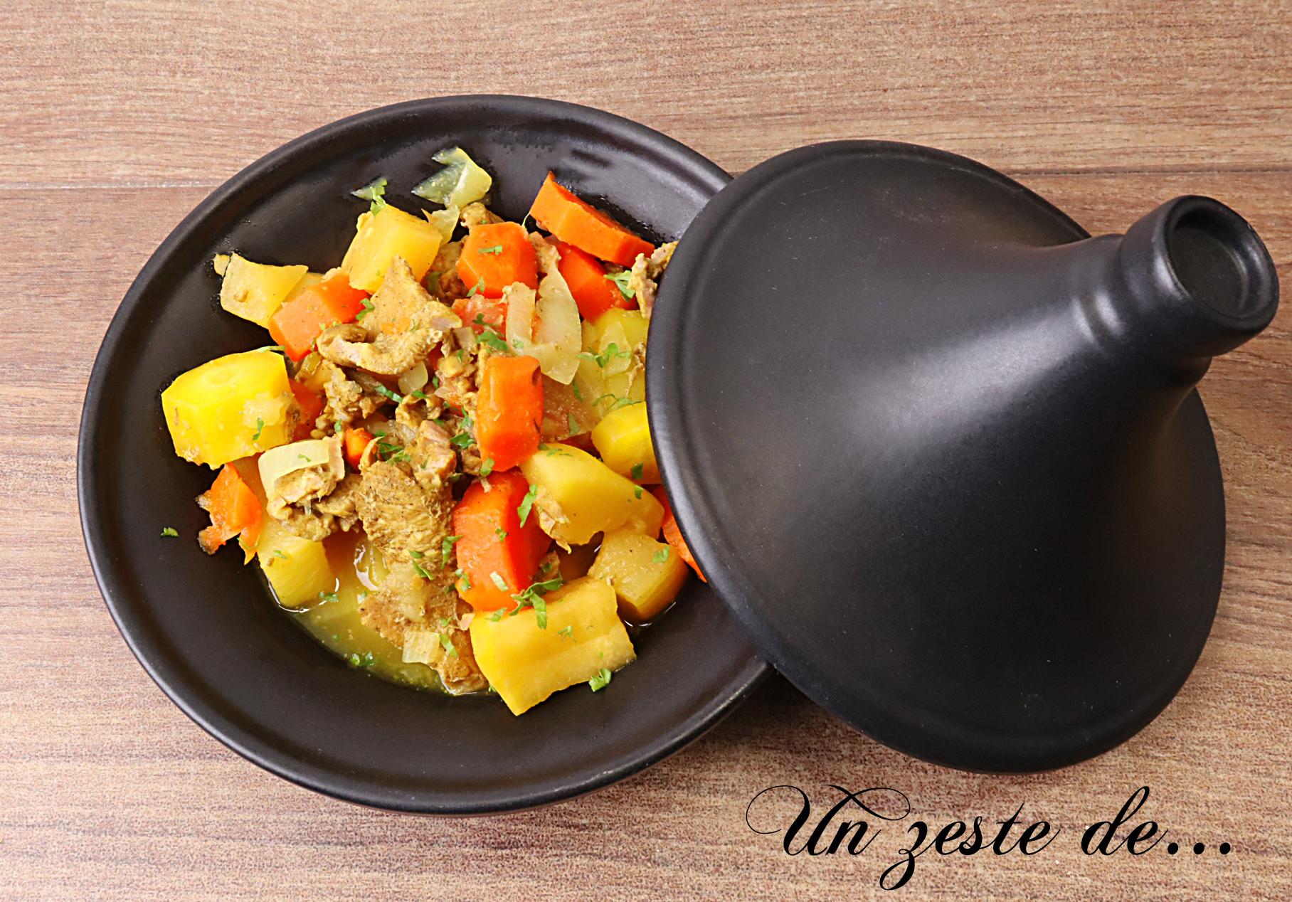 Tajine de veau aux carottes et navets