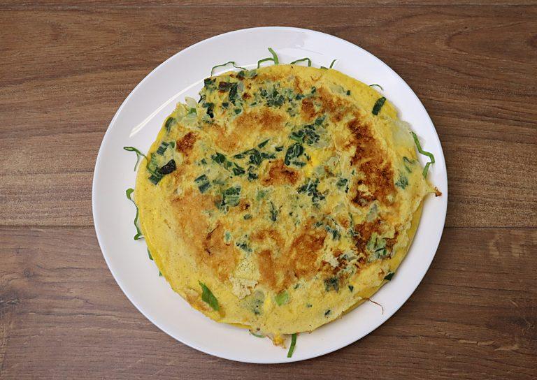 omelette aux fanes de navets nouveaux