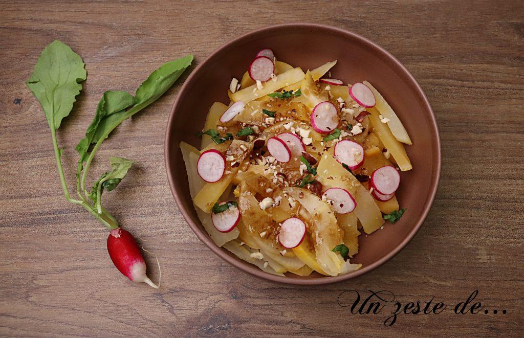 Salade de navets boule d'or printanière