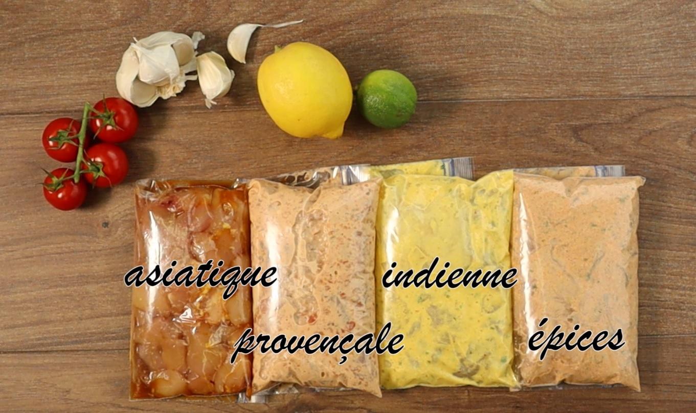 4 marinades pour volaille