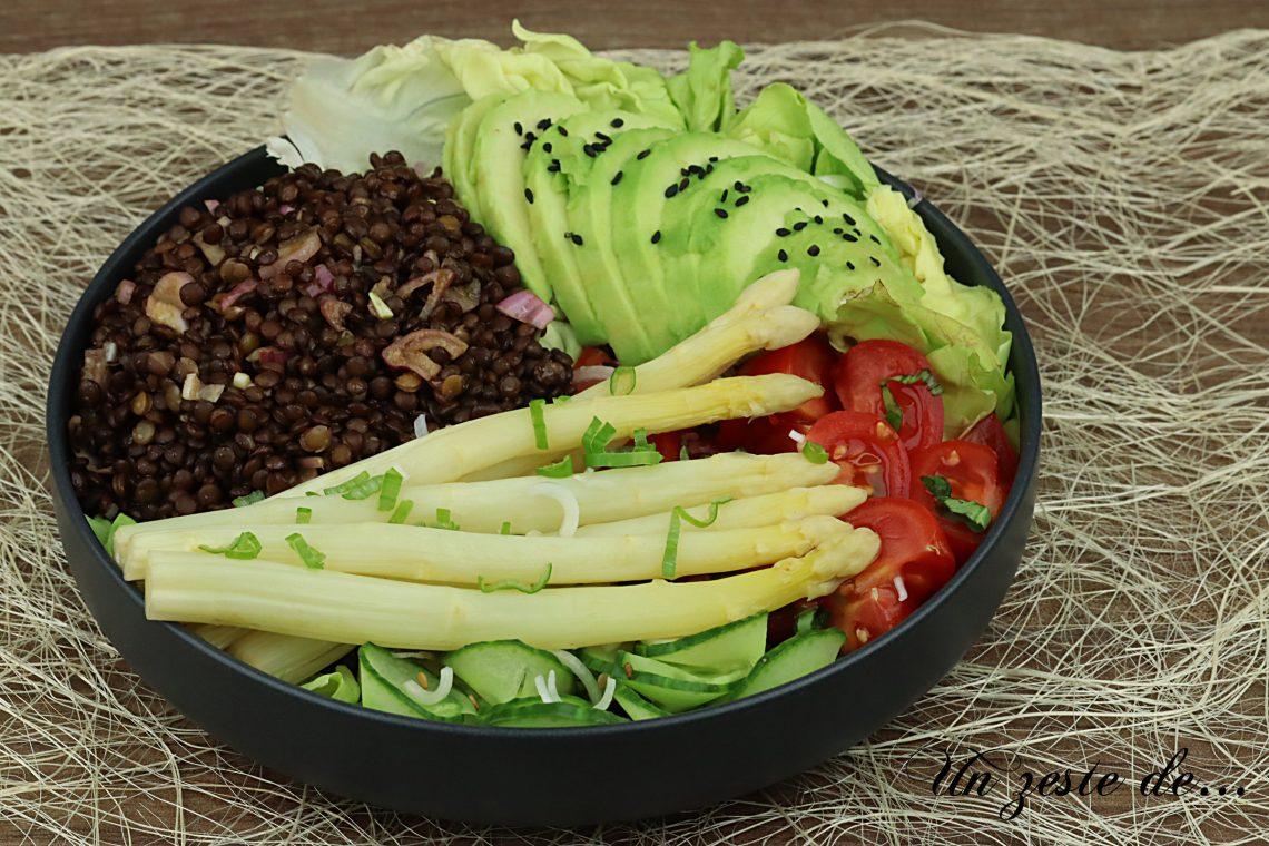 bouddha bowl lentilles